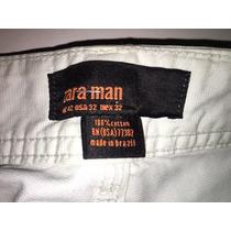 Zara Pantalon Hombre 42 Gabardina Celeste Casi Blanco
