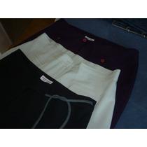3 Pantalones De Gabardina Excelentes!!!! T 46