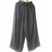 Pantalon Palazo De Gasa Negro!!! T. 1