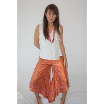 Original Pantalon Seda Hindu Talle Medium Verano Ultima Moda