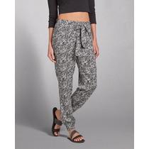 Pantalones Babuchas Abercrombie Estampados Con Lazo Mujer