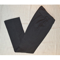 Pantalon Clasico Vestir De Mujer Gris Oscuro Oficina