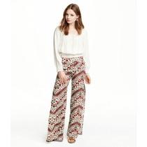 Pantalon Tipo Palazo Cint Elastizada Y Tajos Amplios E Piern