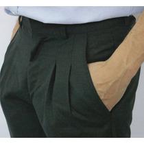 Pantalon De Vestir Tela Alpacuna T42 -t44 Media Estacion