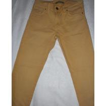 Pantalón De Jeans Color Mostaza Marca Inèdita