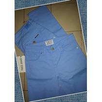 Pantalon De Gabardina Color Celeste Talles 26 Y 32 Ultimos