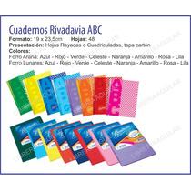 Cuaderno Rivadavia Abc Nº 3 Rayado Cuadriculado Liso Forrado
