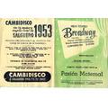 Antiguo Programa De Cine - Teatro Broadway - Año 1954