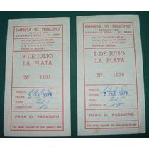 Dos Antiguos Pasajes Colectivo Empresa El Principio 1971