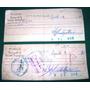 Dos Cheques Antiguos Banco De La Nacion Argentina Año 1974