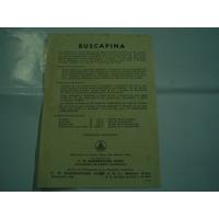Buscapina Antiguo Prospecto Laboratorio Boehringer Sohn