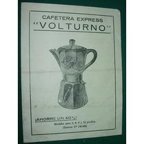 Dos Manuales Usuario Cafetera Express Volturno Publicidad