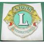 Automovilismo Calcomania Agua Antigua Club De Leones Lions