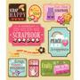 Plancha De Stickers Tridimensionales De Scrapbooking K&compa