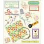 Plancha De Stickers Tridimensionales De Quilting K&company