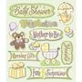 Plancha De Stickers Tridimensionales Baby Shower K&company