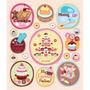 Plancha De Stickers Tridimensionales De Baking Together K&co