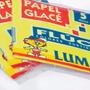 Papel Glace Luma Fluo 10x10cm Sobre X 5 Unidades Glase