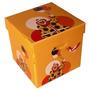 Caja Multiuso Cubo Corrugado Plástico 33x33x34cm Modelo Inf