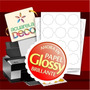Papel Adhesivo Glossy! A4 - Candy Bar - Formas Especiales -