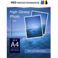 Papel Fotografico A 4 Glossy Sticker 200 Hojas Oca