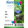 Papel Fotográfico Glossy Kennen A4 10paquetes Super Blanco