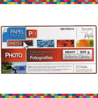 Papel Fotográfico Glossy 200g Gneiss A3 X 20 Hojas Inktec