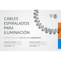 Cable Espiralado Para Iluminación 39 Cm (se Estira A 120 Cm)