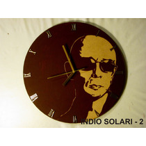 Reloj De Pared Artesanal Indio Solari