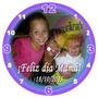 Regalo Día De La Madre Reloj 20cm Con Foto Personalizado