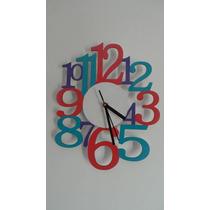 Reloj De Pared De Madera Numeros Grandes