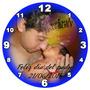 Regalo Día Del Padre Reloj 20cm Con Foto Personalizado