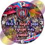 Regalo Día Del Padre Reloj 20cm Futbolero Personalizado