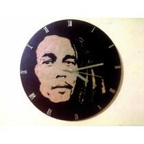 Reloj De Pared Artesanal Bob Marley Cerati Solari Luca Proda
