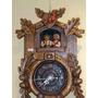 Reloj Tallado En Roble, Con Escena Alpina, L