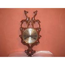 Reloj De Pared Madera Tallada