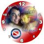 Regalo Día Del Padre Reloj 20cm C/s Foto Personalizado