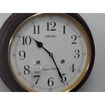 Reloj De Pared Seiko Musical- Madera- Garantia Oficial Seiko
