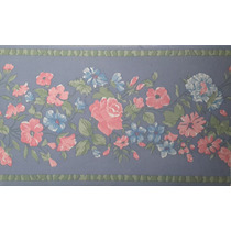 Guarda Decorativa Vinilizada X 5 Mts Flores