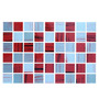 Revestimiento Vidrio Gris Blanco Rojo Veteado Pared 30x20 Cm
