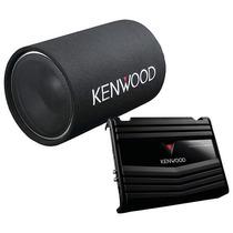 Kenwood - Subwoofer Y Amplificador En Tubo De 12 - Negro