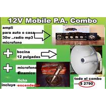 Ampli 30w Para Aire Libre O Public 220v O 12v Pasar Musica