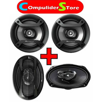 Combo Parlantes Pioneer 6965 400 W 6x9 + Ts 1634 200 W 6,5