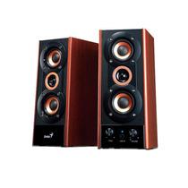 Parlantes Genius Hf-800a 20w Potenciados Dual Input 3 Vias