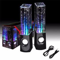 Parlantes Pc O Celular Con Luz Y Aguas Audioritmicas 6w Rms