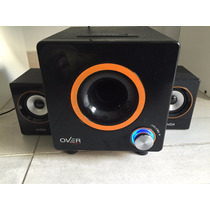 Parlante Overtech Ov-124 2.1 580w Usb Mp3 Sd Subwoofer