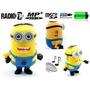 Parlante Portatil Minion Usb Msd Pen Mp3 Radio