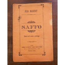 Opera Saffo Argumento Y Reparto Libreria La Teatral Año 1899