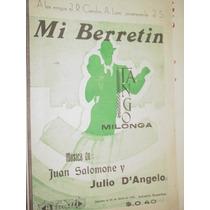 Partitura Tango Mi Berretin Milonga Salomone Julio Dangelo
