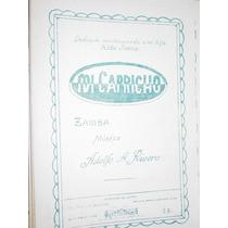 Partitura Musica De Folklore Zamba Mi Capricho Adolfo Rivero